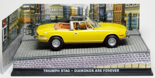 """Triumph Stag (1970) James Bond """"Diamonds Are Forever"""" Geel 1-43 Altaya James Bond 007 Collection"""