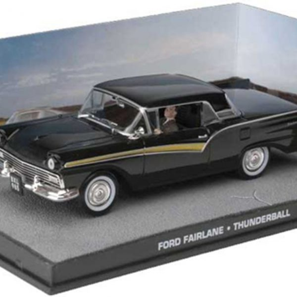 "Ford Fairlane James Bond ""Thunderball"" Zwart 1-43 Altaya James Bond Collection"