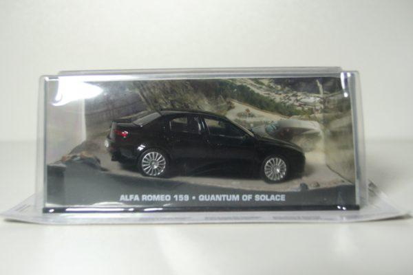 "Alfa Romeo 159 James Bond 2006 ""Quantum of Solace""Zwart 1-43 Altaya James Bond 007 Collection"