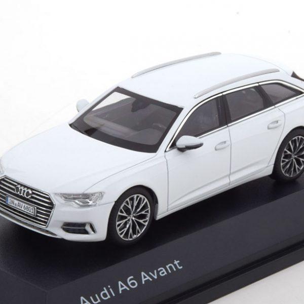 Audi A6 Avant 2018 Wit Metallic 1-43 Iscale