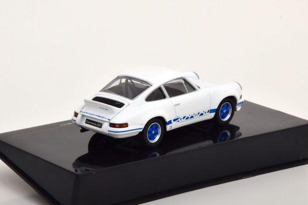 Porsche 911 Carrera RS 2.7 1973 Wit / Blauw 1-43 Ixo Models