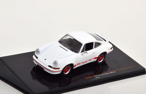 Porsche 911 Carrera RS 2.7 1973 Wit / Rood 1-43 Ixo Models