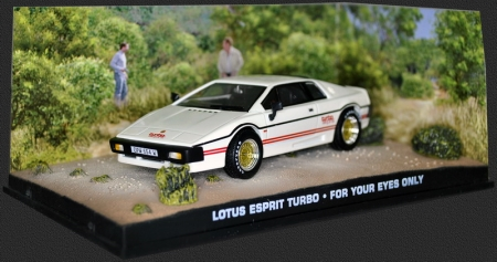 "Lotus Esprit Turbo James Bond ""For Your Eyes Only"" Wit 1-43 Altaya James Bond Collection"