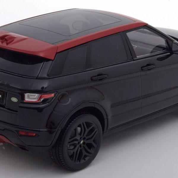 Range Rover Evoque Dynamic Lux Zwart / Rood 1-18 Kyosho