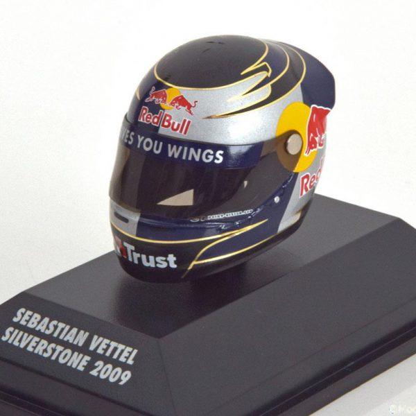 Helm Sebastian Vettel Red Bull Racing Arai Helm GP England ( Silverstone ) 2009 1-8 Minichamps