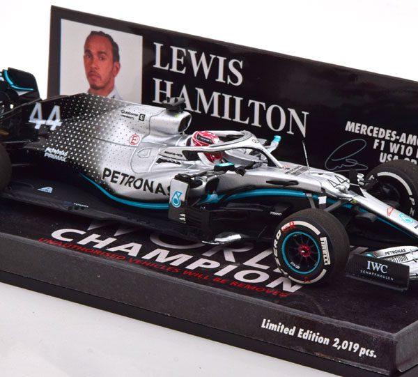 Mercedes-AMG F1 W10 EQ Power+ GP USA, World Champion 2019 L.Hamilton 1-43 Minichamps Limited 2019 Pieces