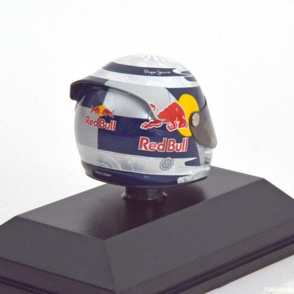 Helm Sebastian Vettel Red Bull Racing Arai Helm GP Valencia 2010, World Champion 1-8 Minichamps