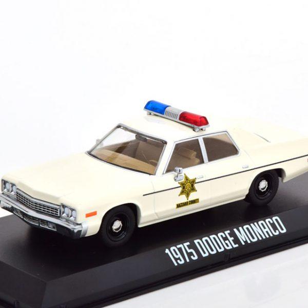 "Dodge Monaco 1975 ""Hazzard County Sheriff"" Beige 1-43 Greenlight Collectibles"
