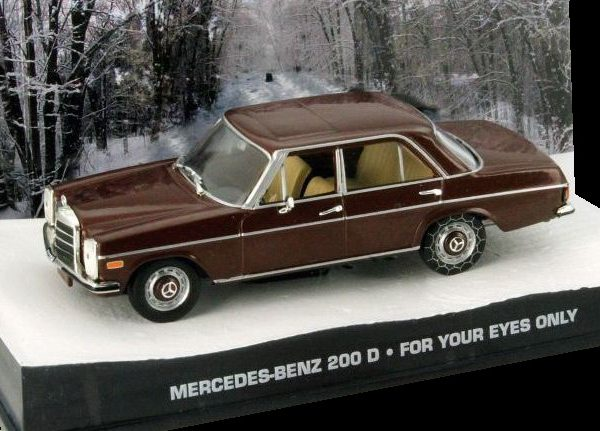 "Mercedes-Benz 200 D James Bond ""For Your Eyes Only"" 1-43 Altaya James Bond 007 Collection"
