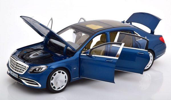 Mercedes-Benz Maybach S650 2018 Blauw Metallic 1-18 Norev