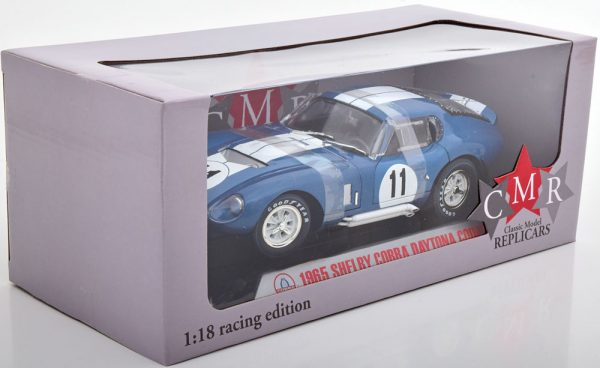 Shelby Cobra Daytona Coupe No.11, 24h Le Mans 1965 Blauw Sears/Thompson 1-18 Shelby Collectibles