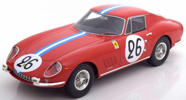Ferrari 275 GTB #26 24h Le Mans 1966 - Coureurs Biscaldi / Bourbon-Parma Rood 1-18 CMR Models