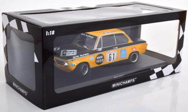 BMW 1600-2 Alpina No.61, Nürburgring 6H 1970 Rene Herzog / Niki Lauda 1-18 Minichamps Limited 300 Pieces