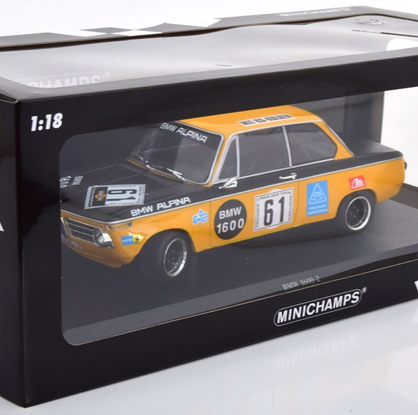 BMW 1600-2 Alpina No.61, Nürburgring 6H 1970 Rene Herzog / Niki Lauda 1-18 Minichamps Limited 300 Pieces