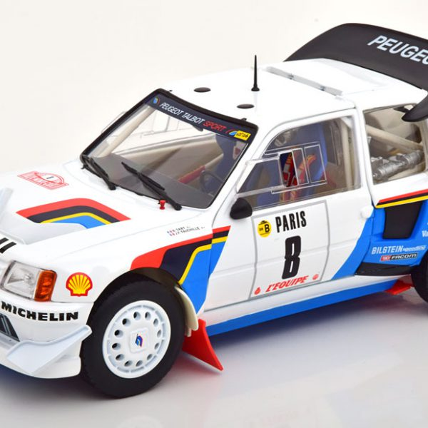 Peugeot 205 T16 No.8, Rally Monte Carlo 1986 Saby/Fauchille 1-18 Norev