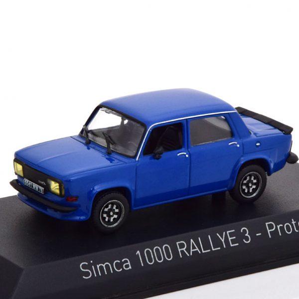 Simca 1000 Rallye 3 Prototype 1978 Blauw 1-43 Norev