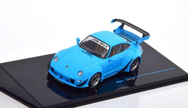 Porsche 911 (993) RWB 2018 Blauw 1-43 Ixo Models