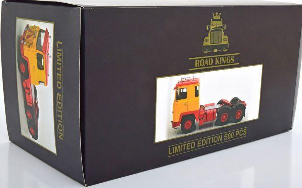 Scania LBT 141 1976 Rood/Geel 1-18 Road Kings Limited 500 pcs.