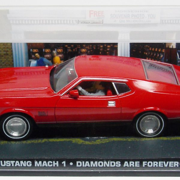 """Ford Mustang Mach 1 1973 James Bond """"Diamonds Are Forever"""" Rood 1-43 Altaya James Bond 007 Collection"""