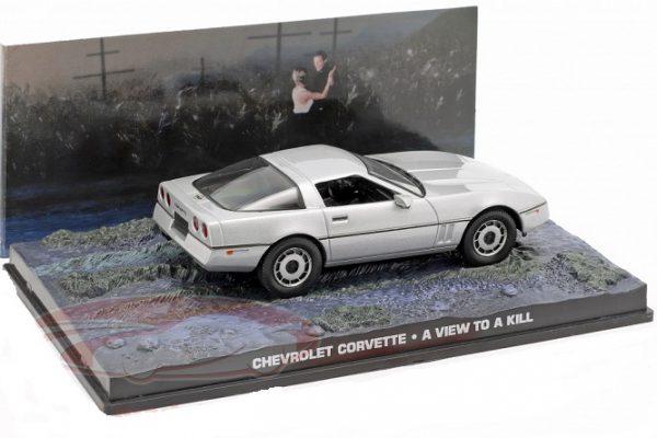 "Chevrolet Corvette 1986 James Bond ""A View To A Kill"" Zilver 1-43 Altaya James Bond 007 Collection"