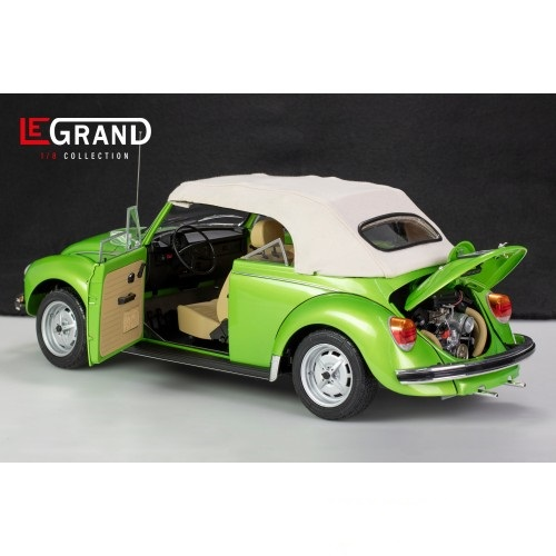 Volkswagen Kever 1303 1976 Cabriolet Groen 1-8 Le Grand Limited 500 Pieces ( Metaal )