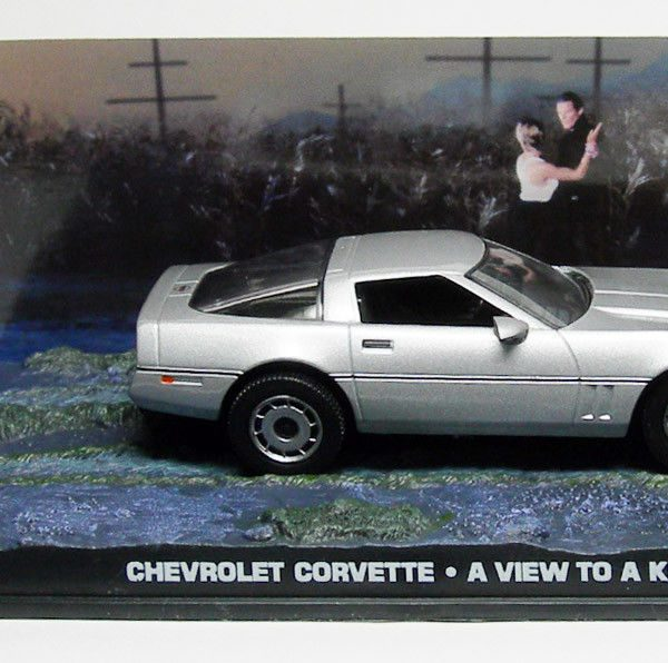 "Chevrolet Corvette 1986 James Bond ""A View To A Kill"" Zilver 1-43 Altaya James Bond 007 Collection"