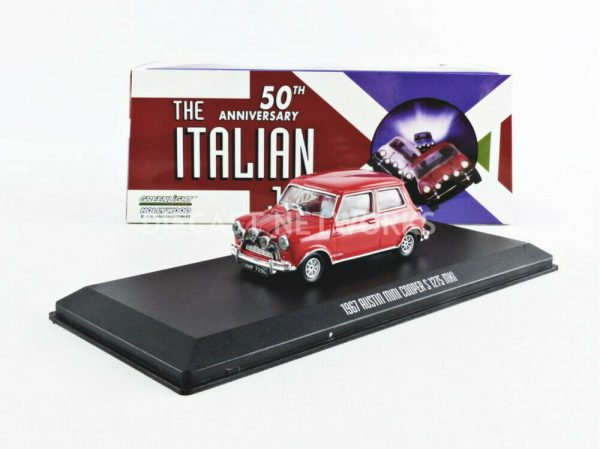 "Austin Mini Cooper S 1275 MKI 1967 ""The Italian Job"" Rood 1/43 Greenlight Collectibles"