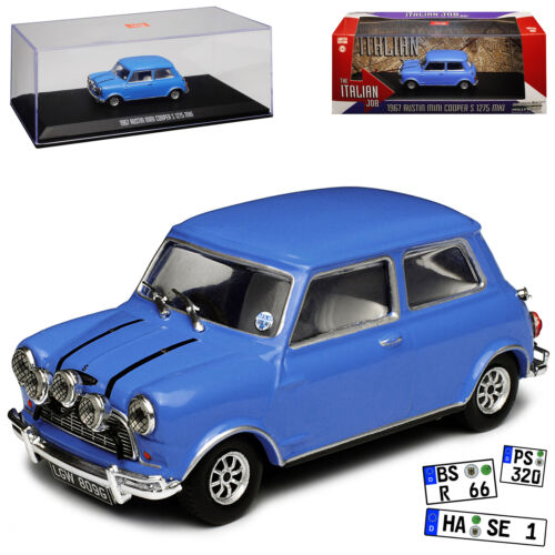 "Austin Mini Cooper S 1275 MKI 1967 ""The Italian Job"" Blauw 1/43 Greenlight Collectibles"
