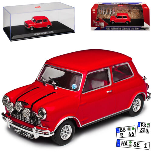 "Austin Mini Cooper S 1275 MKI 1967 ""The Italian Job"" Rood 1/43 Greenlight Collectibles"