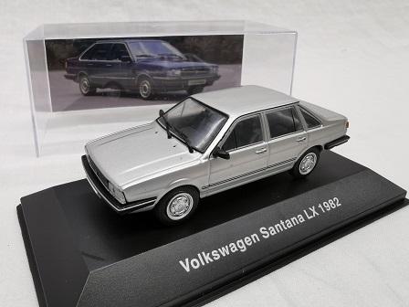 Volkswagen Santana LX 1982 Zilver 1-43 Altaya Volkswagen Collection