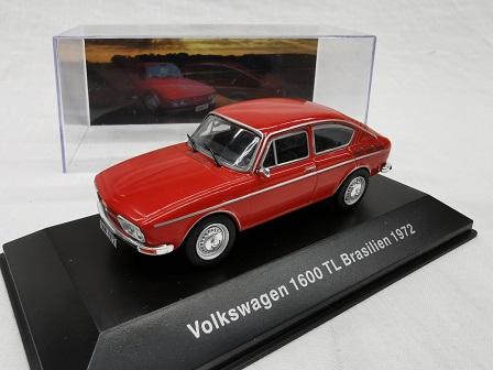 Volkswagen 1600 TL Brasilien 1972 Rood 1-43 Altaya Volkswagen Collection