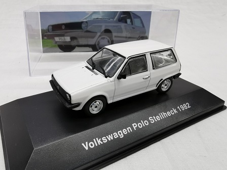 Volkswagen Polo Steilheck 1982 Wit 1-43 Altaya Volkswagen Collection