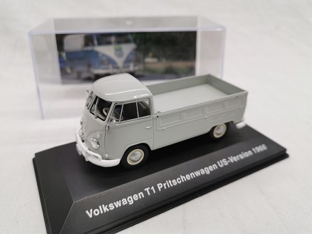 Volkswagen T1 Pritschenwagen ( Pick Up ) US-Version 1966 Grijs 1-43 Altaya Volkswagen Collection