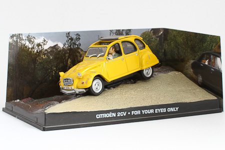"Citroen 2CV James Bond ""For Your Eyes Only"" Geel 1-43 Altaya James Bond 007 Collection"