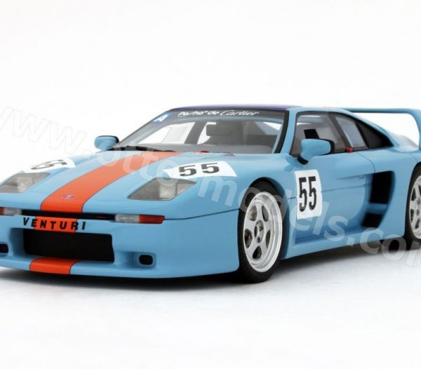 "Venturi 400 Trophy ""Gulf"" Nr# 55 Lichtblauw 1-18 Ottomobile Limited 1500 Pieces"
