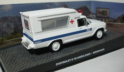 "Chevrolet C-10 Ambulance James Bond ""Moonraker"" 1-43 Altaya James Bond 007 Collection"