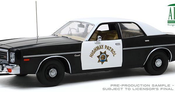 Dodge Coronet 1975 California Highway Patrol Zwart / Wit 1-18 Greenlight Collectibles