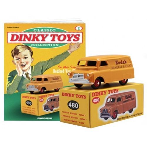"""Bedford 10 cwt Van """"Kodak"""" Geel 1-43 Dinky Toys"""