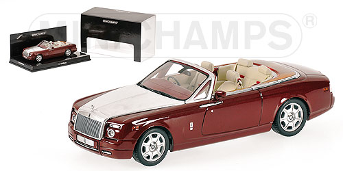 Rolls-Royce Phantom Drophead Coupé 1-43 Rood Metallic Minichamps Limited 2400 pcs.