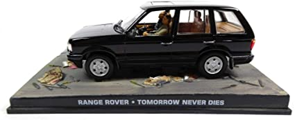 "Range Rover James Bond ""Tomorrow Never Dies"" Zwart 1-43 Altaya James Bond 007 Collection"