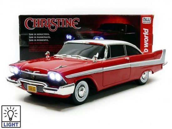 "Plymouth Fury 1958 ""Christine Evil Version"" 1:18 Rood/Wit Autoworld"