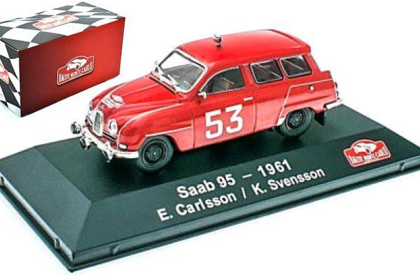 Saab 95 #53 Rally Monte Carlo 1961 Rood E. Carlsson/K. Svensson 1-43 Atlas