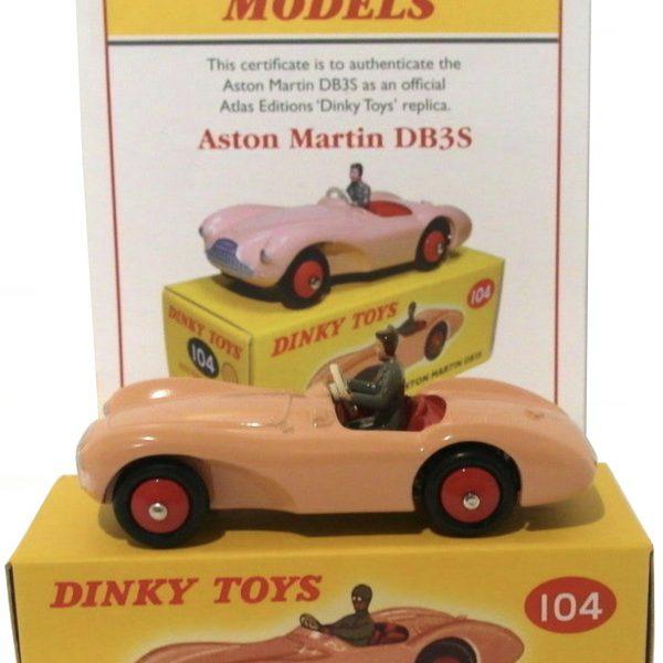 Aston Martin DB3 Bruin 1-43 Dinky Toys