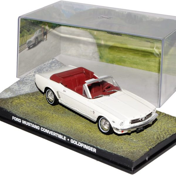 "Ford Mustang Convertible James Bond ""Goldfinger"" Wit 1-43 Altaya James Bond 007 Collection"