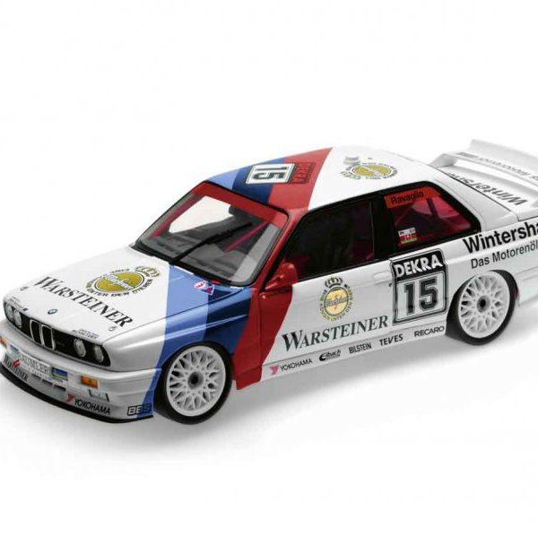 BMW M3 (E30) Heritage 1:18, Warsteiner Nr# 15 1st Place 1992 German Touring Car Championship R. Ravaglia 1-18 Minichamps BMW Heritage Racing Collection