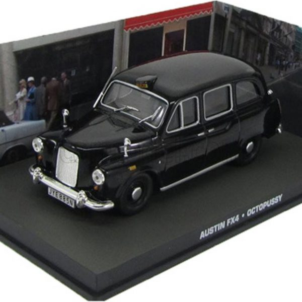 "Austin FX4 James Bond ""Octopussy"" Zwart 1-43 Altaya James Bond 007 Collection"