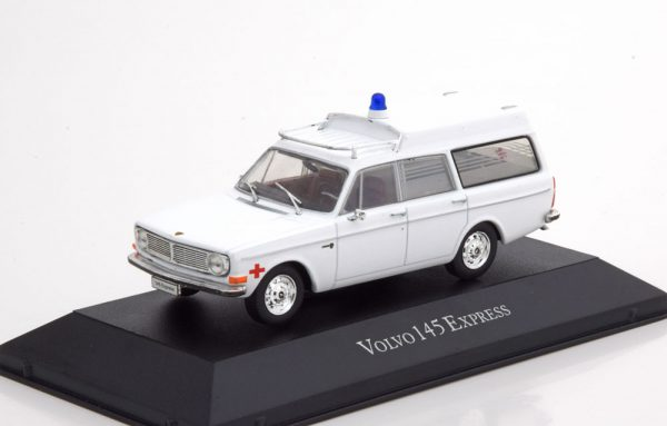 "Volvo 145 Express 1969 ""Ambulance"" Wit 1-43 Atlas"