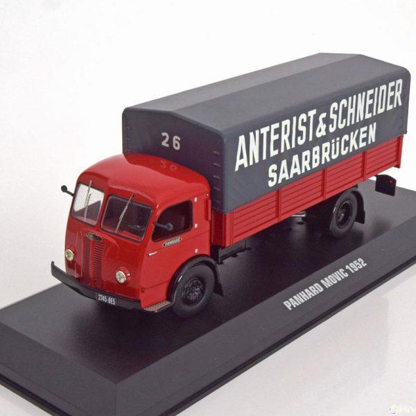 "Panhard Movic ""Anterist & Schneider"" 1952 Rood / Grijs 1-43 Ixo Models"