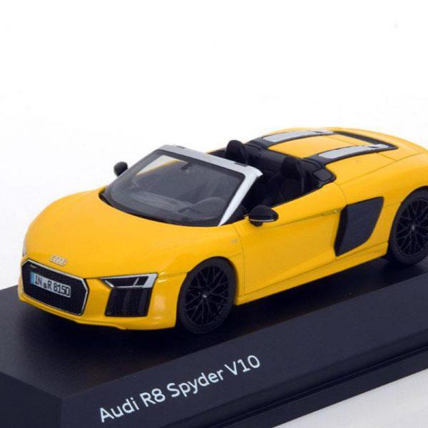 Audi R8 Spyder V10 2016 Geel 1-43 Herpa