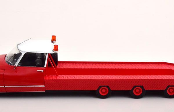 Citroen DS Tissier Autotransporter 1970 Rood / Wit 1-18 CMR Models ( Model zit er niet bij )